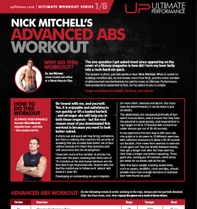 NICK MITCHELL'S Advanced Abs Workout