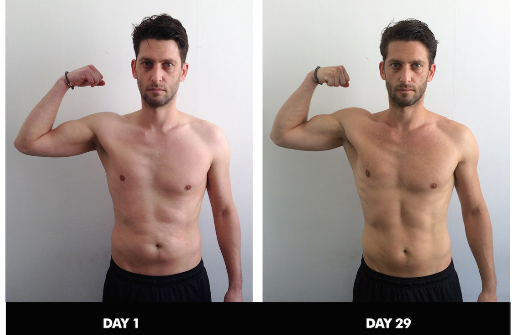 A quick look at Joe's 4 week progress photos.